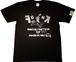 【即日発送可能】【funkキマグレ企画 Tシャツ】染み込みプリント黒T×ライラック