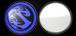 """コンパクトミラー """"LOGO"""" ROYAL BLUE"""