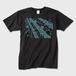 SaKuRa 黒/ブルー メンズTシャツ