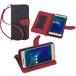 Aquos L / Aquos U SHV37 / Disney Mobile DM-01J ケース 手帳型 カバー スタンド機能 カードホルダー ストラップ付