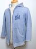 """1970's NCAA """"UCLA BRUINS"""" フルジップカレッジスウェットパーカ 袖カットオフ 2トーン 霜降りブルーグレー 表記(L)"""