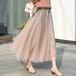 4色 feminine チュールプリーツフレアスカート c2816