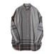 ALMOSTBLACK 18SS button down shirt (tartan)