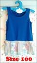 kids バルーンスカート ワンピース ブルー × 花柄 100サイズ