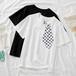 レディース オシャレ 夏 ラウンドネック 半袖 ネクタイ カジュアル 着痩せ Tシャツ・トップス