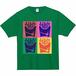 Tシャツ(ポップアート - 緑)