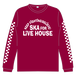 SKA FOR LIVEHOUSE  L/S Tシャツ【マルーン】