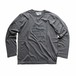 """CAST,CAST,REEL"" LONG SLEEVE T SHIRTS  BW-708    CHARCOAL"