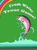 ニジマス トラウト 釣りステッカー 「Fresh Water Trout Game!」
