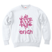 ERICH / HEXAGRAM LOGO CREWNECK SWEAT WHITE