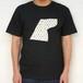 メンズTシャツ(黒/グレー)いしカバくんボタニカル柄