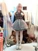羽根のチェック切り返しドレス/魔法都市東京