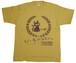 びーるのみT。2nd-Re『麦+ホップ+ねこ』〔半袖〕(濃黄+茶)XLサイズ