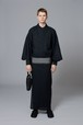 ゆかた / 刺子柄 / Black×Black(With tailoring)