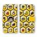 手帳型iPhoneケース(蜂の巣)X、8、7、6/6s、5/5s/SE