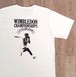 """JS """"WIMBLEDON"""" バックプリントTシャツ/ホワイト"""