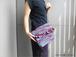 ニュアンスカラーの裂織クラッチバッグ『Ilma』