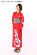 カープ浴衣 レディース ビジター(赤) Carp(背番号なし) 仕立て上がり S~L 納期3週 ポリエステル
