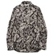 VELOUR SHIRT - PAISLEY (BLACK/BEIGE) /  RUDE GALLERY