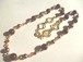 パール・カットガラス・メタルパーツのネックレス〈n214〉
