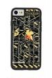 FLASH NERV 基板アート iPhone7/8ケース 黒【東京回路線図A5クリアファイルをプレゼント】
