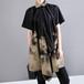 アシンメトリー ロングシャツ ブラウス ウエストストラップ 半袖 韓国ファッション レディース 不規則デザイン シャツ トップス 大きいサイズ 大人カジュアル 大人可愛い 621522208968