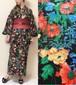 【受注販売】 2分で着れるかんたん浴衣と作り帯のセット(ボタニカルブラック)