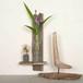 板流木と浜辺の漂着びんの花器-2