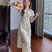 【dress】ファッションand清新!スリット着痩せ花柄ワンピースオシャレ M-0426