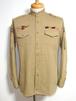 1970's インド軍 スタンドカラーミリタリーシャツ 表記(M)