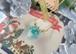 キラキラクリスマスツリーを閉じ込めたアイスキューブ風ネックレス