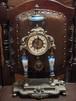 【送料無料】七宝焼 手巻き式アンティーク置時計