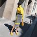 セットアップ レディース 春ニットセットアップ レディース コーデ イエロー 黄色 きれい色 おすすめ 可愛い 韓国 着こなし セットアップ ニットセットアップ 通販 長袖 人気 スカート デート きれいめ