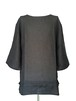 RINEN SIDE BOTTON SHIRTS -BLACK-
