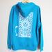 【6SENSE】 Hoodie -Triangle-(Turquoise Blue)