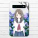 #053-006 モバイルバッテリー 紫陽花 かわいい 女の子 あじさい 花 iphone スマホ 充電器 作:Hanami