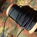 細めのパラコード 靴紐 (ブラック) 丸紐 2.4mm