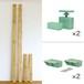 【棚セットM】 LABRICO ラブリコヴィンテージグリーンと2×4材ラスティック・パイン(BRIWAX) 取付幅~2438mm カット無料/送料無料 JXV-21