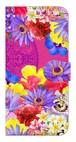 【iPhone7/iPhone8】 Hawaiian Flowers Garden ハワイアンフラワーズガーデン ー Fuchsia Pink フューシャピンク 手帳型スマホケース