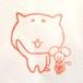 顔に好きなことを書けるネコハンコ_すぐねこ ハンコ(顔ナシ)