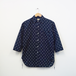2/3 SLEEVE SHIRT OPEN FRONT (ANCHOR NAVY)