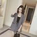 韓国ファッションスタイリッシュトレンドチェック柄スーツ・アウターキュロット2点セットアップ