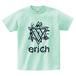 ERICH / HEXAGRAM LOGO T-SHIRT ICE-GREEN