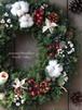 クリスマスリース直径32cm/プリザーブドグリーン/ドライ木の実/ドアリース/クリスマスリース【即日発送】【お届け日指定可能】