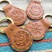 SMILE & calavera/native Key Ring