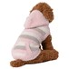 【送料無料】 犬服(ドッグウェア) ペット服 ふわふわニット パーカー ボーダー マルチピンク