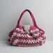 綿糸のグラニーバッグ(ピンク)