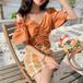【★送料無料★】ブラウス ギャザー ショルダーストラップ フリル 韓国ファッション レディース トップス 半袖 ゆったり 無地 大人可愛い ガーリー DTC-620593213242_bs