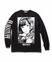 """""""Dream and reality"""" L/S Tee2  BLACK  19SS-FS-46"""