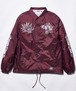 "Rakugaki ""TIGER & DRAGON"" Coach Jacket Black Burgundy"